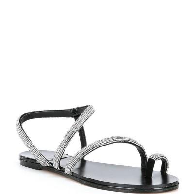 アントニオメラニー レディース サンダル シューズ Paulinie Embellished Flat Sandals Black