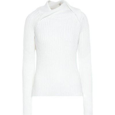 ワイプロジェクト Y/PROJECT レディース ニット・セーター トップス ribbed-knit wool-blend sweater White