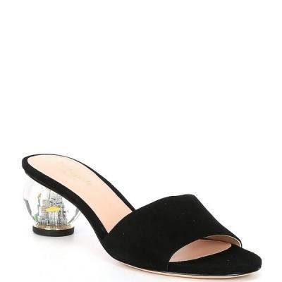 ケイト スペード レディース サンダル シューズ Polished Suede Snow Globe Dress Sandals Black