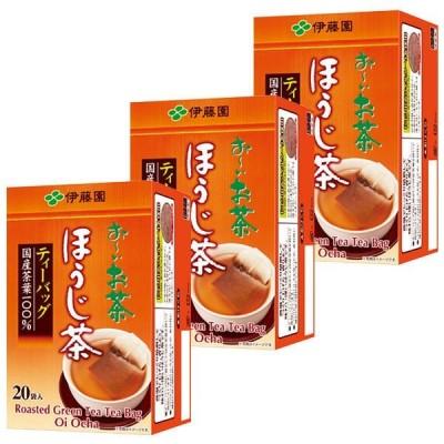 伊藤園 おーいお茶 ほうじ茶 カップ用ティーバック 1セット(3箱入)