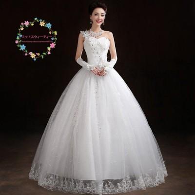 ウェディングドレス 安い 結婚式 ブライダル ドレス 花嫁 プリンセスラインドレス 白 ロング ウエディングドレス 披露宴 二次会 パーティードレス