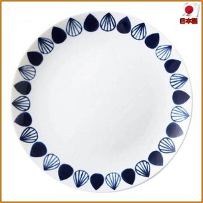 (送料無料)ネイビーブルー NAVY BLUE 23cmプレート ドロップ co023-047 ▼くつろぎのカフェに似合うおしゃれな食器