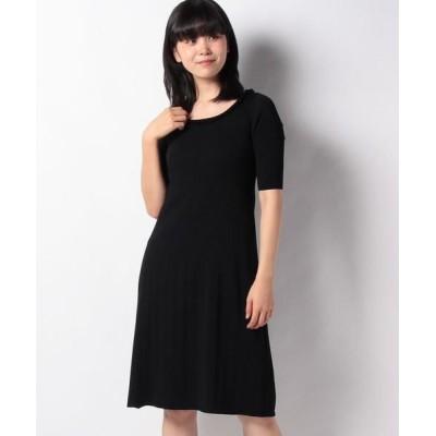 MISS J/ミス ジェイ ハノン リブニットドレス ブラック 38