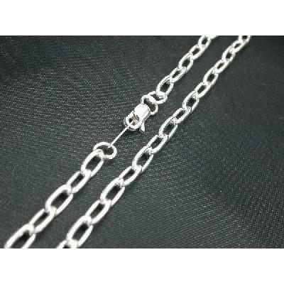 あずきチェーン 小豆 アズキ シルバー レディース メンズ 925 シルバー ネックレス 長 3.8mm 長さ40cm ネックレス チェーン シンプル 男性 女性 ペア にも 大き