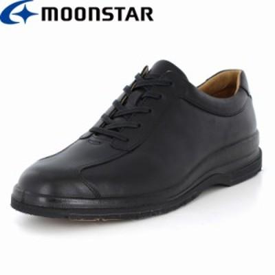 ≪アウトレット・セール≫ 送料無料 ムーンスター メンズ カジュアルシューズ 靴 SPH7320TSR ブラック 防滑 本革 国産 スペラン カジュア