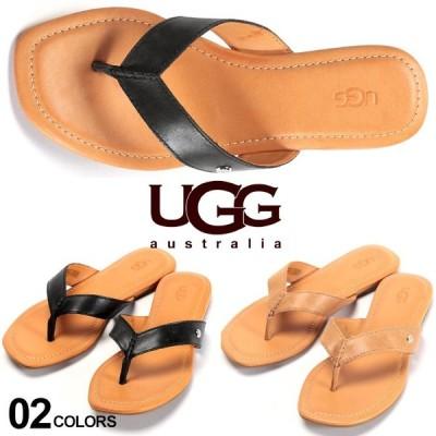 UGG Australia (アグ オーストラリア) レザー ロゴ ビーチサンダル TUOLUMNE UGGL1112870
