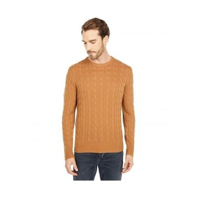 J.Crew メンズ 男性用 ファッション セーター Classic Cable Cashmere Crew - Burnished Timber