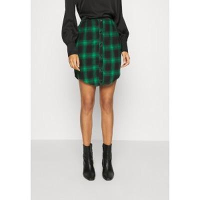 ミスガイデッド レディース スカート ボトムス BUTTON THROUGH SKIRT - Mini skirt - green green