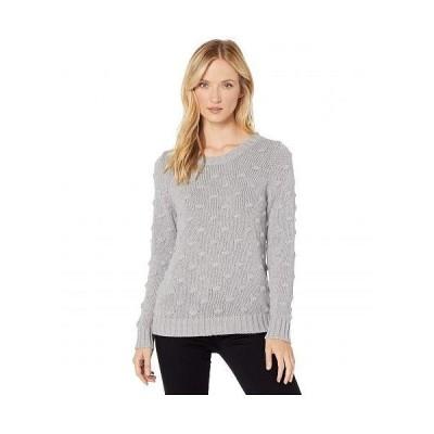 Vince Camuto ヴィンスカムート レディース 女性用 ファッション セーター Long Sleeve All Over Popcorn Sweater - Silver Heather