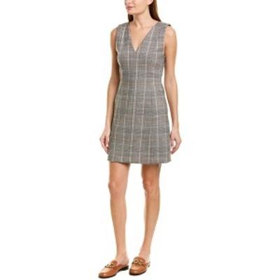 セオリー レディース ワンピース トップス Theory Autumn Plaid Wool-Blend Sheath Dress multicolor
