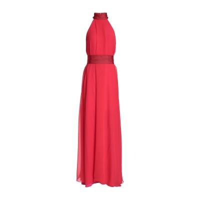 GALVAN  London ロングワンピース&ドレス レッド 40 トリアセテート 81% / ポリエステル 19% ロングワンピース&ドレス