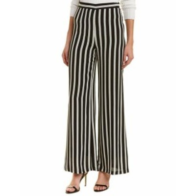 ファッション パンツ Lavender Brown Striped Pant