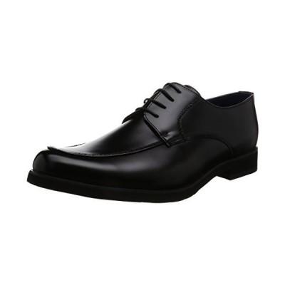 アットジーノ ビジネスシューズ ZN5002 防水 紳士靴 通学 Uチップ 雨 幅広 4E 軽量 メンズ ブラック 24.5