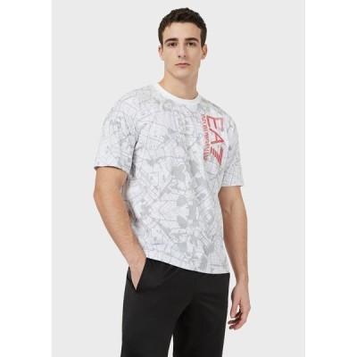 tシャツ Tシャツ 【エンポリオ アルマーニ EA7】TRAIN VISIBILITY グラフィック柄Tシャツ