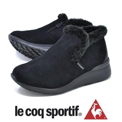 le coq sportif スノーブーツ ルコックスポルティフ QL3OJD85BK デュアン ショート 防寒 防水 ブラック レディース