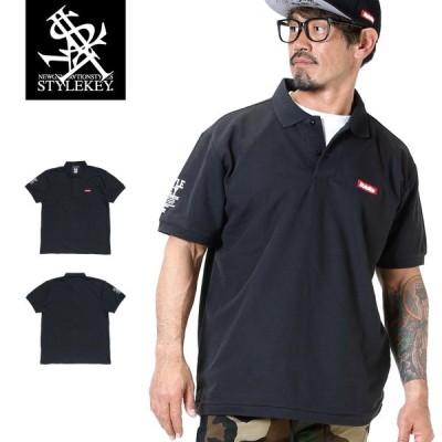STYLEKEY スタイルキー ポロシャツ SMART BOX 鹿の子 S/S POLO(SK19SU-PL01) ストリート系 B系 大きいサイズ
