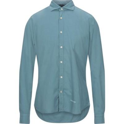 ティントリア マッティ TINTORIA MATTEI 954 メンズ シャツ トップス solid color shirt Turquoise