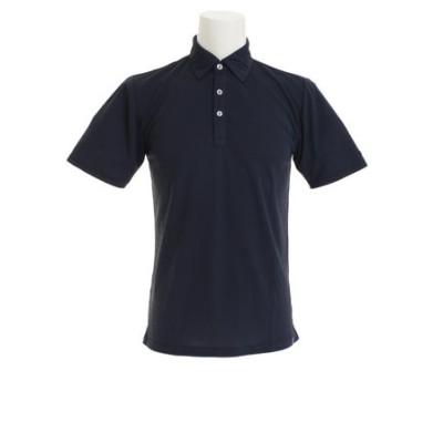 ピージー(PG)ゴルフウェア メンズ 切替 半袖ポロシャツ PGTJ1808-NVY
