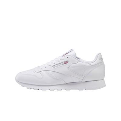 リーボック メンズ スニーカー シューズ Reebok Classic Leather sneakers in white with light gray