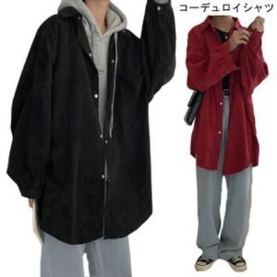 スプリングコート レディース コーデュロイ シャツ ゆったり ジャケット 長袖 女性用 アウター 春秋物 カジュアル ライトアウター オシャ