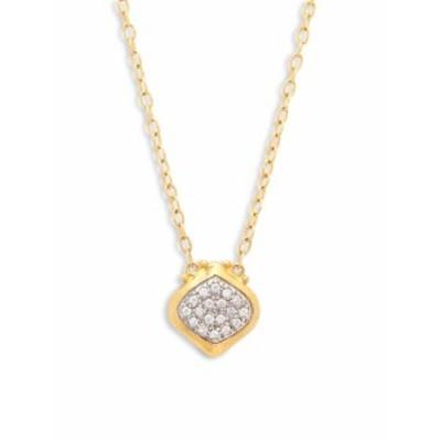 グーラン レディース ジュエリー Diamond &amp 24K Yellow Gold Pendant Necklace