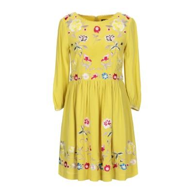 フレンチコネクション FRENCH CONNECTION ミニワンピース&ドレス イエロー 12 レーヨン 100% ミニワンピース&ドレス