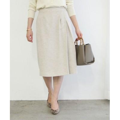 (ROPE'/ロペ)【セットアップ対応】麻調タックタイトスカート/レディース ベージュ系(29)
