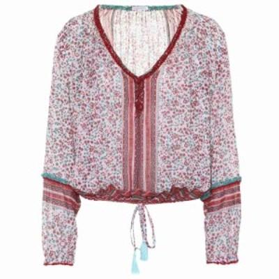 プーペット セント バース Poupette St Barth レディース ブラウス・シャツ トップス Bibi tasseled cotton blouse White/Pink/Jasmine