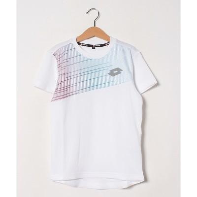 LOTTO (ロット) ジュニアテニスゲームシャツ(ポリプロピレン) 130.0 WHT ジュニア LO-S20-004-028