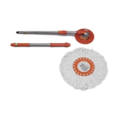アイリスオーヤマ(IRISOHYAMA) 回転モップ専用モップ オレンジ KMO-17 生活用品 新生活 掃除道具 清掃 フローリング