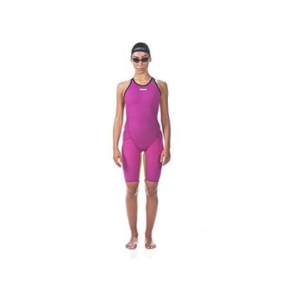 Arena Women's Limited Edition Powerskin Carbon Flex VX Open Back Tech Suit Swimsuit, Fuchsia-Fluo Yellow - 30【並行輸入品】