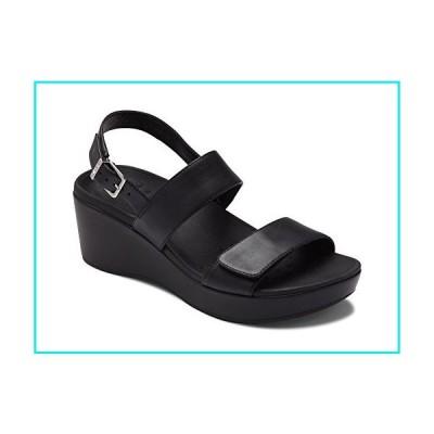 Vionic Women's Atlantic Lovell Toe-Post Platfom Wedge Sandal Black 8 M US【並行輸入品】