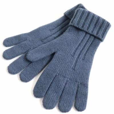 美品▽2017年製 HERMES エルメス カシミヤ100% 手袋 コバルト S イタリア製 箱・タグ付き メンズ