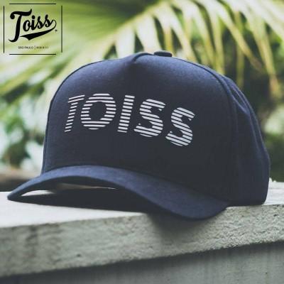 """【TOISS】トイス ボーダーロゴ カーブキャップ """"ABA CURVA"""" スナップバック   ブラック"""