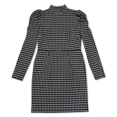 バースリー レディース ワンピース トップス Puffed Sleeve Keyhole Dress