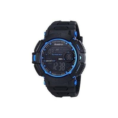 腕時計 アーミトロン Armitron メンズ ブラック レジン 腕時計 100 Meter WR クロノグラフ 40/8333BLU