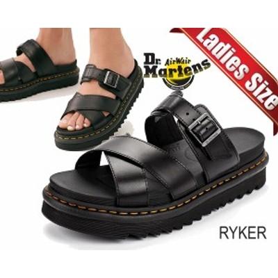 【ドクターマーチン ライカー サンダル】Dr.Martens RYKER BLACK 24515001 ZEBRILUS BRANDO ZIGGY SOLE レディース ストラップ ブラック