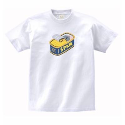 デザイン Tシャツ スパム缶の中に隠れるネコ 白