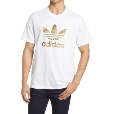アディダス ADIDAS ORIGINALS メンズ Tシャツ トップス Camo Trefoil Graphic Tee White/Wild Pine/Multicolor