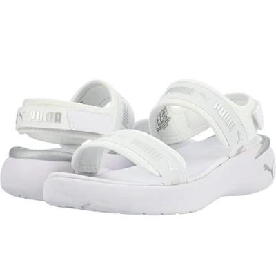 プーマ Sportie Sandal レディース サンダル Puma White/Metallic Silver