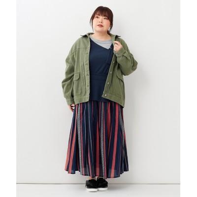 大きいサイズ オーバーサイズジャケット(Instagram LIVE着用商品)
