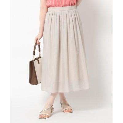 【洗える】シアーローンミディ丈スカート