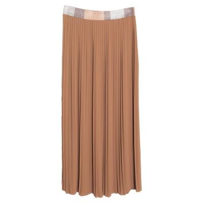 VIA STENDHAL  Roma ロングスカート ブラウン S ポリエステル 100% ロングスカート