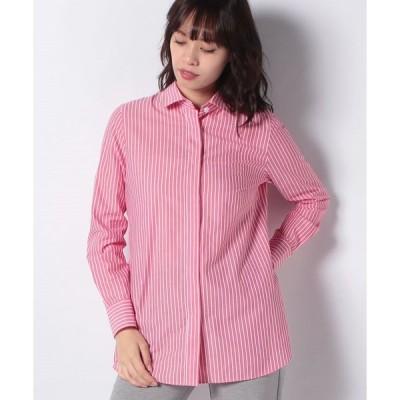 【マダム ジョコンダ】ストライプチュニックシャツ
