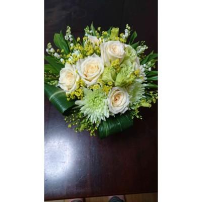 結婚記念日フラワーギフト  花のアレンジメントなら花工房悠々