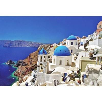 Minisan 1000ピース ジグソーパズル エーゲ海 サントリーニ島 ギリシャ パズル マイクロピース mini puzzle (420 x 29