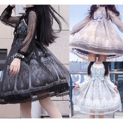 ゴスロリ ワンピース v系 v系ゴスロリ ファッション 服 【T001-HALN0803】