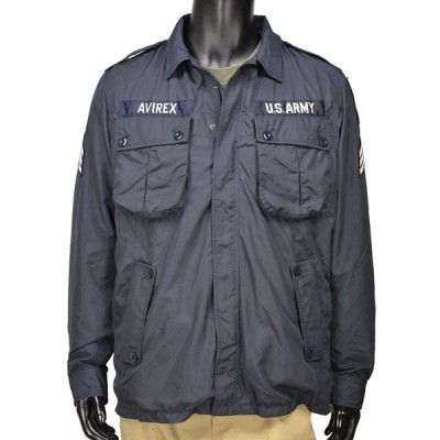 AVIREX ミリタリージャケット ジャングルファティーグ ポリエステル 6162115 [ ネイビー / Lサイズ ] アビレックス