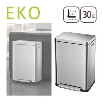 EKO ゴミ箱 30L Xキューブステップビン シルバー