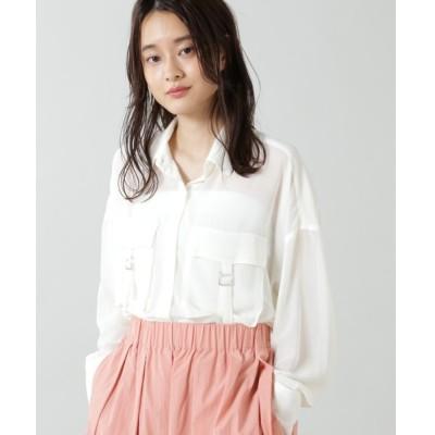 シャツ ブラウス (OKIRAKU×ROSE BUD)シアーワークポケットシャツ